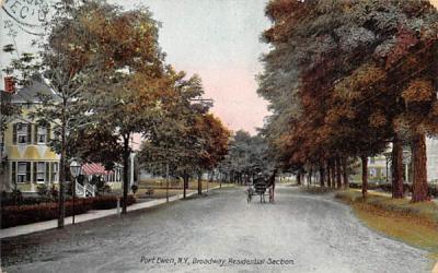 Broadway Residental Section Port Ewen, New York Postcard