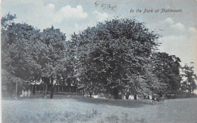 In the Park Plattmount, New York Postcard