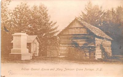 Indian Council House & Mary Jemison Grave Portage, New York Postcard