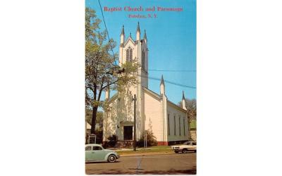 Baptist Church & Parsonage Potsdam, New York Postcard