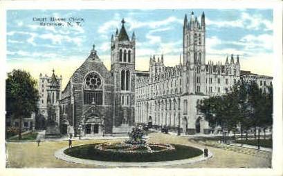 Courts House Circle - Syracuse, New York NY Postcard