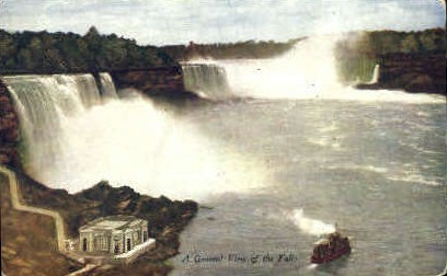 Great View Of The Falls - Misc, New York NY Postcard