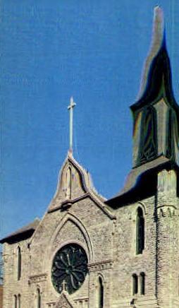 Saint Mary's Roman Catholic Church - Troy, New York NY Postcard