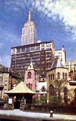 The Little Church Around the Corner - Misc, New York NY Postcard