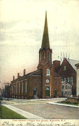 1st German Lutheran Zion Church - Rochester, New York NY Postcard