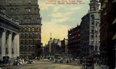 State Street from Exchange Street - Rochester, New York NY Postcard