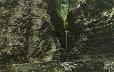 View from Main Gorge Trail - Watkins Glen, New York NY Postcard