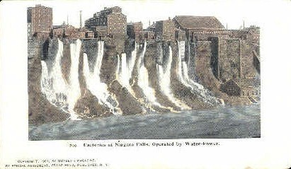 Factories at Niagra Falls - Misc, New York NY Postcard