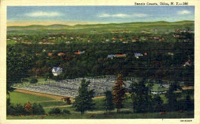 Tennis Courts - Utica, New York NY Postcard