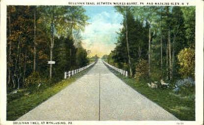 Wilkes-Barre and Watkins Glen - New York NY Postcard