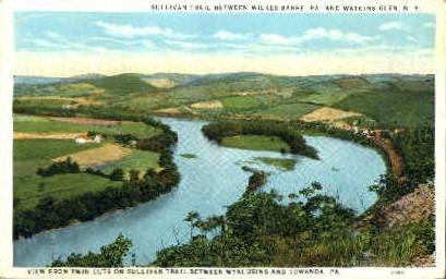 Sullivan Trail - Watkins Glen, New York NY Postcard