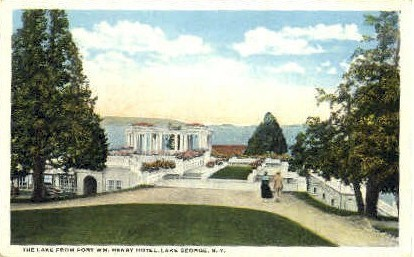 Lake from Fort W.M. Henry Hotel - Lake George, New York NY Postcard