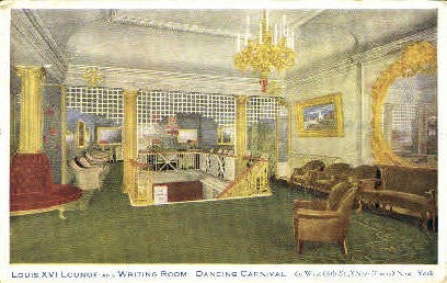 Lounge and Writing Room - Misc, New York NY Postcard