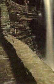 Cavern Cascade - Watkins Glen, New York NY Postcard