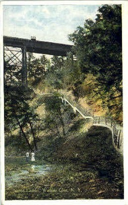 Jacobs Ladder - Watkins Glen, New York NY Postcard
