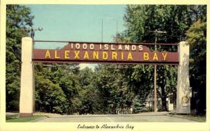 Entrance to Alexandria Bay - Thousand Islands, New York NY Postcard