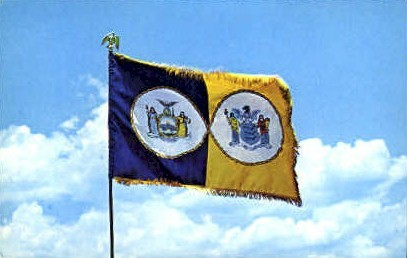 Flag of the Port of New York Authority - Misc Postcard