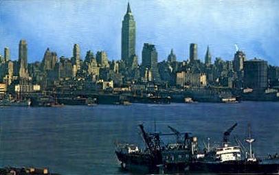 View of Midtown Skyline - Misc, New York NY Postcard