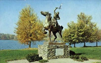 Bronze Statue - Carmel, New York NY Postcard