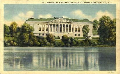 Historical Building and Lake - Buffalo, New York NY Postcard