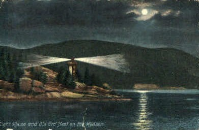 Light House and Old Crow Nest - Misc, New York NY Postcard