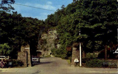 Main Entrance Watkins Glen State Park - New York NY Postcard