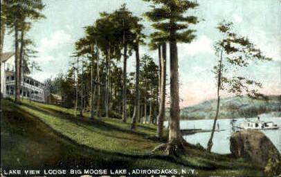Lake View Lodge  - Adirondack Mts, New York NY Postcard