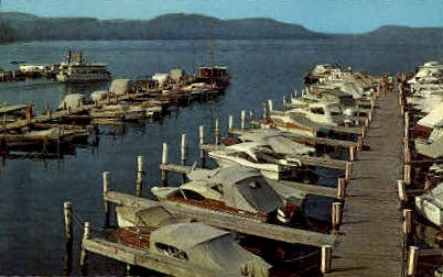 The Lake Front Motel Marina - Cooperstown, New York NY Postcard