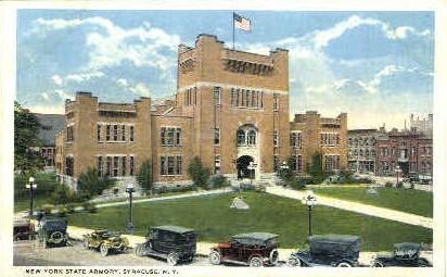 New York State Armory - Syracuse Postcard