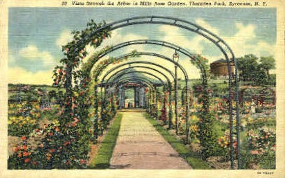 Arbor Mills Rose Garden - Syracuse, New York NY Postcard