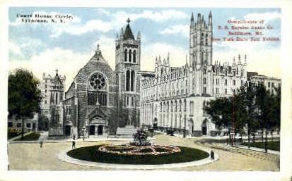 Court House Circle - Syracuse, New York NY Postcard