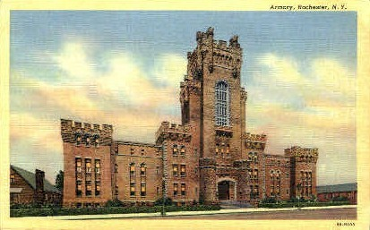 Armory - Rochester, New York NY Postcard