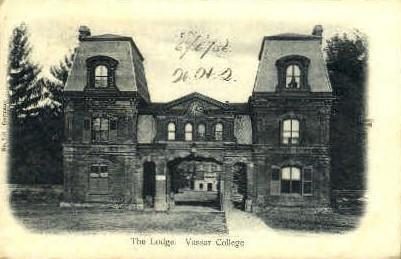 The Lodge, Vassar College - Misc, New York NY Postcard
