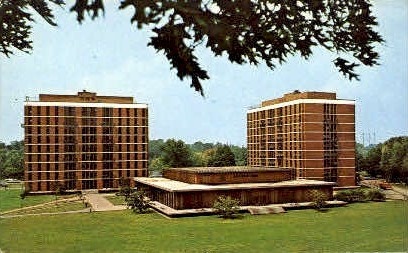 Dorms, Rochester University - New York NY Postcard