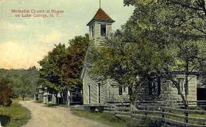 Methodist Church at Hague - Lake George, New York NY Postcard