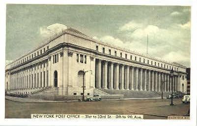 New York Post Office - Misc Postcard