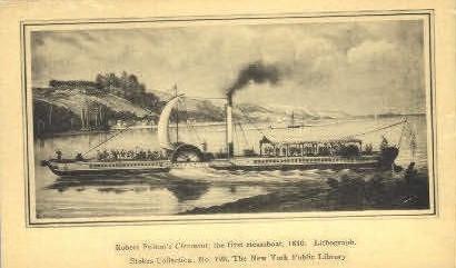Robert Fultons Clermont - Misc, New York NY Postcard