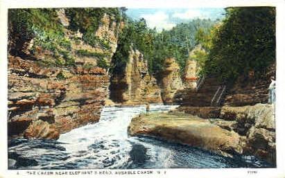 The Cahsm Near Elephants Head - Ausable Chasm, New York NY Postcard