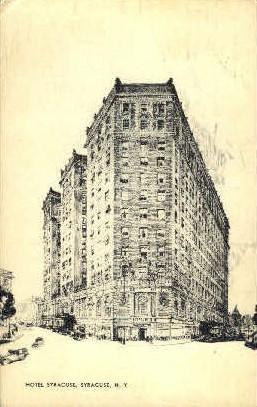Hotel Syracuse - New York NY Postcard