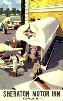 Sheraton Motor Inn - Buffalo, New York NY Postcard
