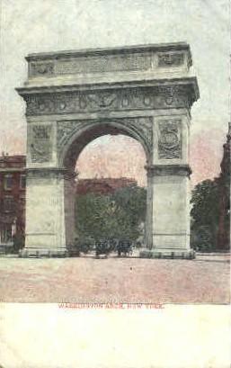 Washington Arch - Misc, New York NY Postcard