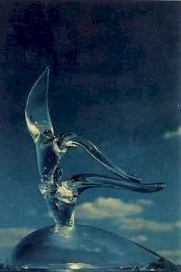 Flight, Steuben Glass - Corning, New York NY Postcard