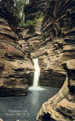 Whispering Falls - Watkins Glen, New York NY Postcard