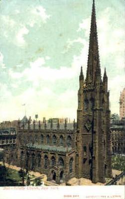 Trinity Church - Misc, New York NY Postcard