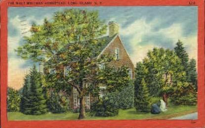 The Walt Whitman Homestead - Long Island, New York NY Postcard