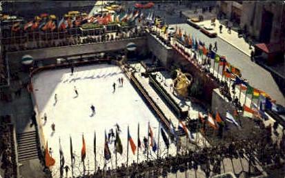 Rockefeller Plaza Skating Rink - Misc, New York NY Postcard