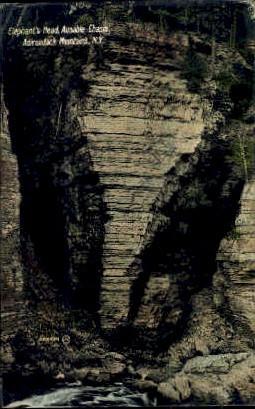 Elephants Head, Ausable Chasm - Adirondack Mts, New York NY Postcard