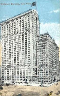 Whitehall Building - Misc, New York NY Postcard