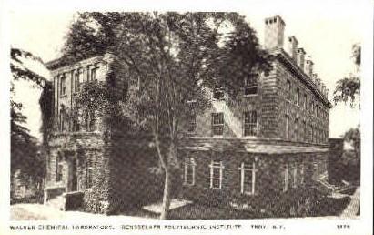 Walker Chemical Laboratory - Troy, New York NY Postcard