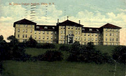 St. Johns Orphan Asylum - Utica, New York NY Postcard